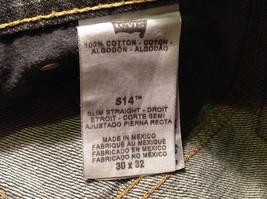 LEVI'S 514 Mens Slim Straight Black 100% Cotton Denim Jeans Pants, size 30x32 image 6