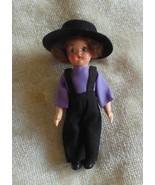 """Vintage Amish Boy Doll 5"""" Tall - $18.32"""