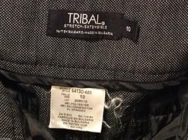 TRIBAL Womens Dark Gray Slacks Dress Pants, size 10, Rayon Polyester blend image 7