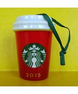 Starbucks 2015 Red Ombre Christmas Tree Ornament Drink Cup Holidays Cera... - $9.89