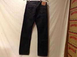 LEVI'S 514 Mens Slim Straight Black 100% Cotton Denim Jeans Pants, size 30x32 image 2