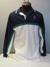 Seattle Mariners Polo Shirt with Crested Logos - By Lee Sport - Men's Medium  - $49.00
