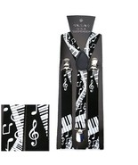 NEW ADJUSTABLE CLIP ON Y-SHAPE SUSPENDERS ~ BLA... - $6.79