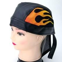 NEW FLAMING BIKER SKULL CAP MOTORCYCLE HAT HEAD WRAP GEAR ~ FLAMES BANDA... - ₹546.88 INR