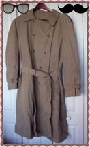 London Towne  London Fog Mens Tan Beige Trench Coat w/ Removable Liner 4... - $79.99