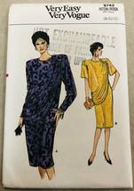 Vintage Vogue Sewing Pattern 9743 Misses Dress Uncut Size 8-10-12 - $8.99