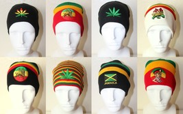NEW RASTA REGGAE STRIPES LION BEANIE WINTER KNIT SNOWBOARDING SKULL CAP HAT - $7.95 CAD
