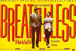 Breathless Movie Poster 27x40 inches Jean Seberg Jean-Luc Godard French New Wave - $39.99