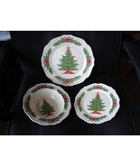 Melamine Christmas Tree Dinnerware 12 pc Set NIB - $11.95