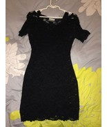 H&M BLACK LACE DRESS HOLIDAY SEXY BODYCON  STRE... - $34.99