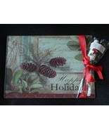 Happy Holidays Glass Pinecone Cutting Board wit... - $4.50