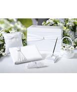 White Sash Wedding Accessories 6 piece Set with... - $88.11