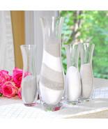 Wedding Sand Ceremony Engraved 4 piece Vases Sa... - $55.44