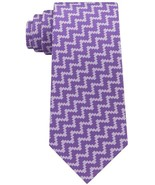NEW SEAN JOHN PURPLE ANGULAR HERRINGBONE PRINT 100% SILK NECK TIE - $20.80
