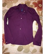 Gap Dark Purple Plum Stretch Women's Dress Shir... - $18.99