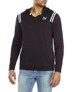 Puma Men's Progressive Striped-Shoulder Hoodie Black Medium - $39.60