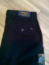 Polo Ralph Lauren Pleated Classic Fit Cotton Black Pants  NWT SZ-32x32 - $39.00