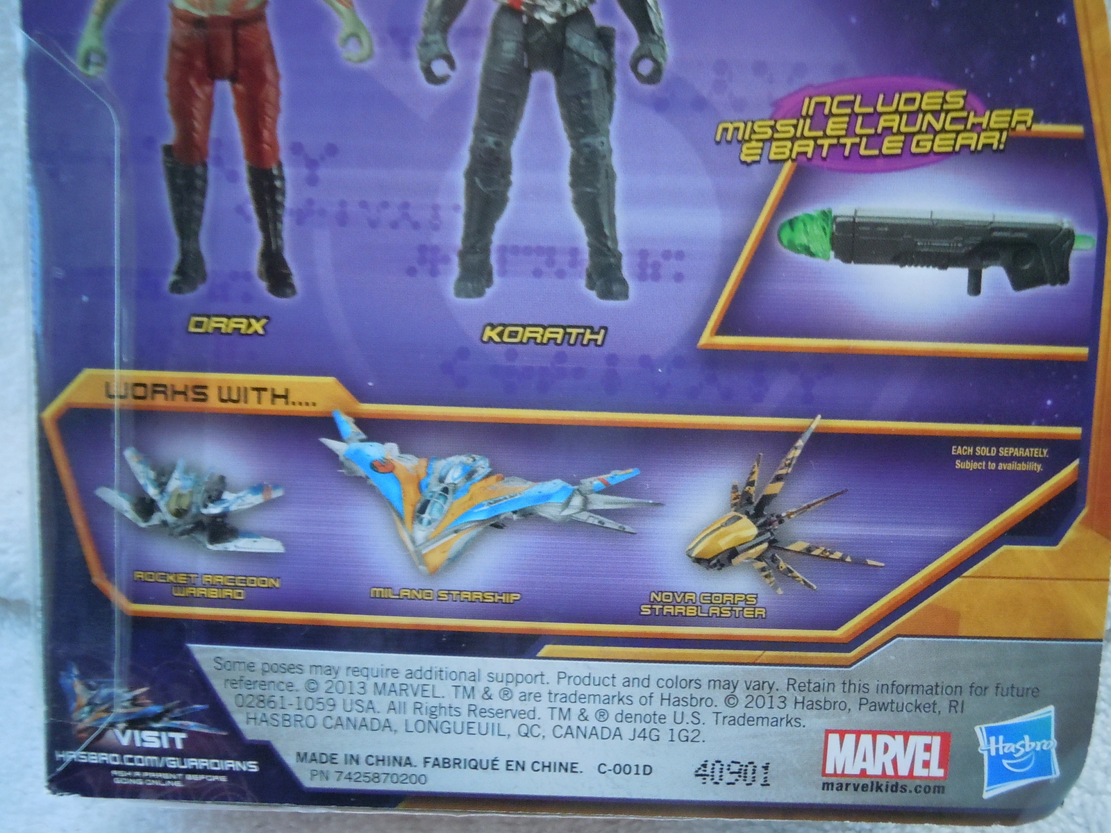 marvel guardians of the galaxy drax korath hasbro new in