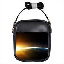 Space Sunrise over Earth Leather Sling Bag & Women's Handbag - $14.54+