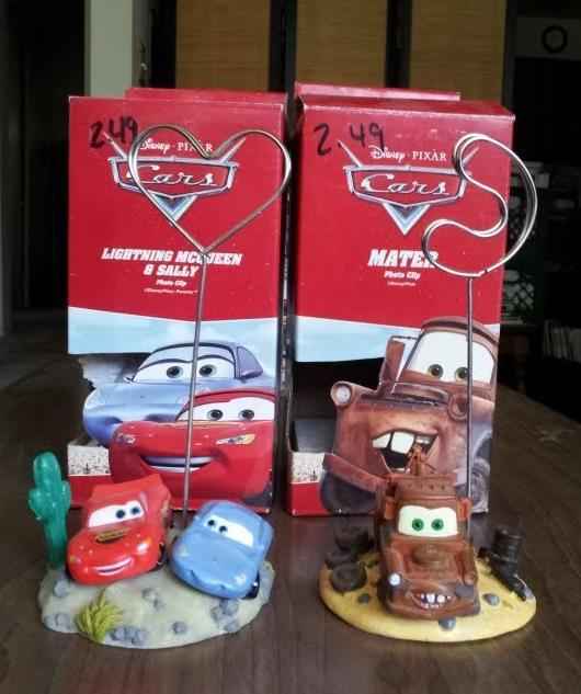 Disney Pixar CARS Photo Clip picture holders set of 2 Lightning Sally Mater