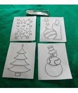 Reusable sticky Stencils for Spray Snow - Christmas Scenes - Holiday 4 p... - $10.00