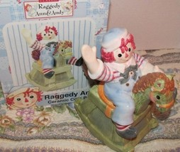 Raggedy Andy Ceramic Coin Bank  Rocking Horse Bank Raggedy Ann & Andy NEW - $18.00
