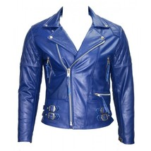 Blue leather jacket 12 600x600 thumb200