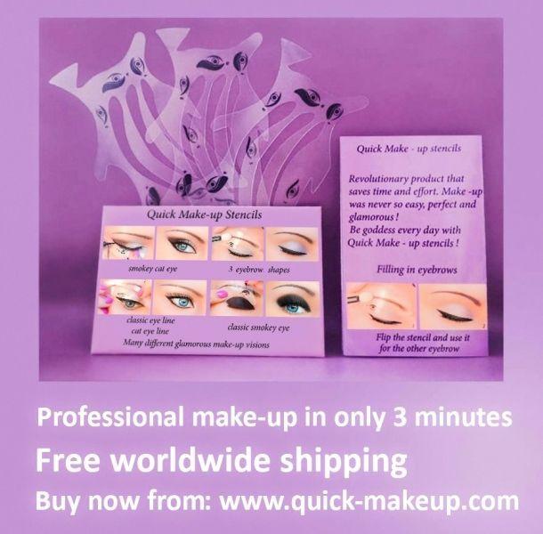 Pochoirs de maquillage rapide Eyeliners Fard à paupières Livraison Gratuite FR1
