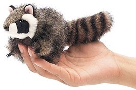 Folkmanis Mini Raccoon Finger Puppet - $13.85