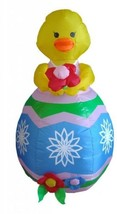 4 Foot Easter Inflatable Chick With Flower Yard Decoration Lawn - $117.80