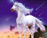 Unicorn Comet Collectible Vintage 4X6 Foil Fantasy Postcard