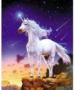 Unicorn Comet Collectible Vintage 4X6 Foil Fantasy Postcard - $3.00