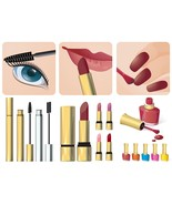 2 Makeup Signs and Accessories Vector-Digital Clipart - $4.00