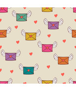 4 Seamless Pattern with Post Letters Love Mail-... - $3.85