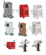 Mail Box and Letterbox Vector Collection-Digita... - $4.00