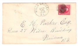 1893 Hills Grove, RI Discontinued/Defunct Post Office (DPO) Postal Cover - $7.99