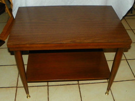 Walnut Formica Top End Table / Side Table by Mersman   (RP) - $199.00