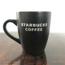 1 Starbucks Coffee 2010 Ceramic Cup Mug 12oz Matte Chocolate Brown White - $19.99