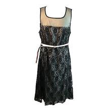 Torrid Black Lace Net Illusion Neckline Shoulders Dress Keyhole Back Plu... - $24.26