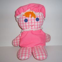 "FISHER PRICE 420 LOLLY RATTLE DOLL PINK GINGHAM 12"" 1975 - $88.00"