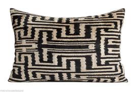 Vintage Tribal Ikat Silk Velvet Pillow - $125.00