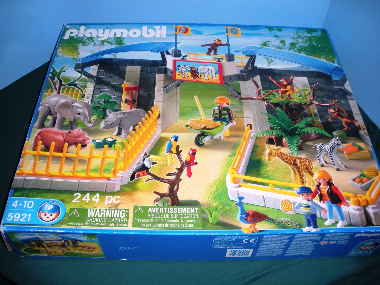 Vintage Playmobil #5921 Zoo of Baby Animals Comp./NIB with Instructions! (B)