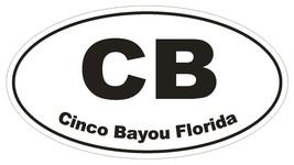 Cinco Bayou Florida Oval Bumper Sticker or Helmet Sticker D1636 Euro Oval - $1.39+