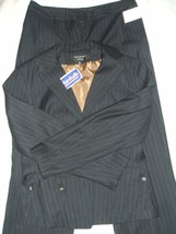 NWT Signature by Larry Levine Women's Career Pant Suit Set Sz~8 Fully Li... - $65.45