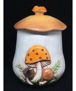 """Vintage Mushroom Canister/Cookie Jar like Merry Mushroom over 9"""" tall w/ lid - $14.96"""