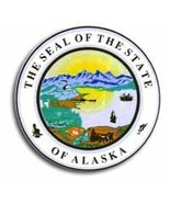 "Alaska - 3.5"" State Seal - $2.70"
