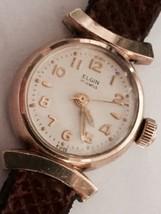 """1950's Elgin Fancy Lugs Ladies Gold Watch """"Really Nice"""" - $59.39"""