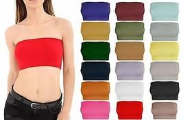Womens Strapless Plain Boob Tube Stretch Bra Ladies Bandeau Crop Vest Bra Top - $6.50