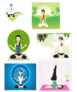 Yoga A1-Digital Clipart  - $6.00