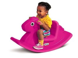 Small Hot Pink Indoor Outdoor Plastic Play Toy Rocking Horse - Easy Grip... - $62.50